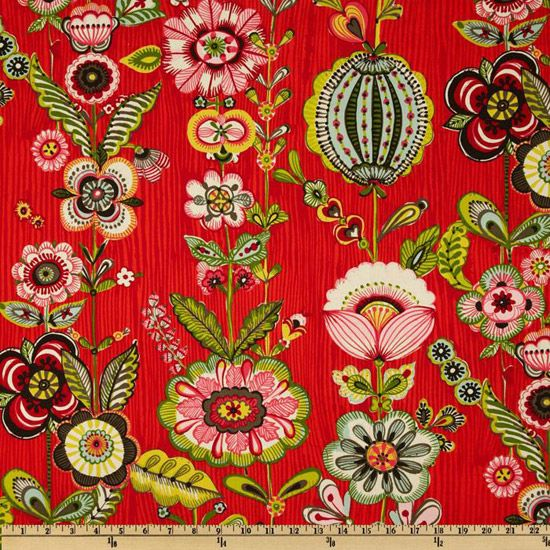 Zhivago Traditional  Russian Folklore AH Fabric Stripe Large Anastasia Flower Floral Design