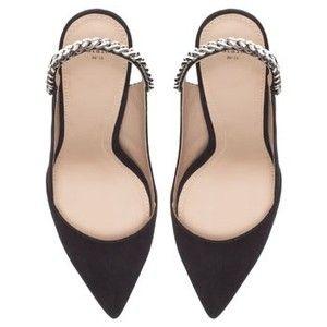 Zara Black, Pointed, Chain Slingbacks Need.