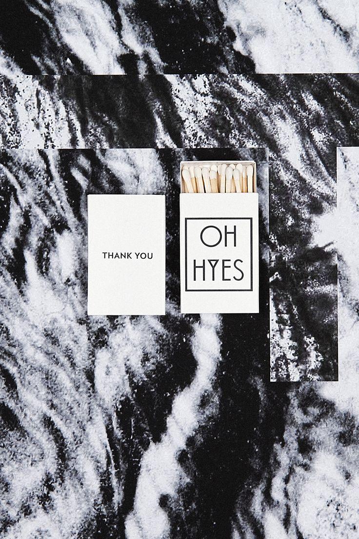 OH HYES matches box | Photo by Marie-Amélie Tondu