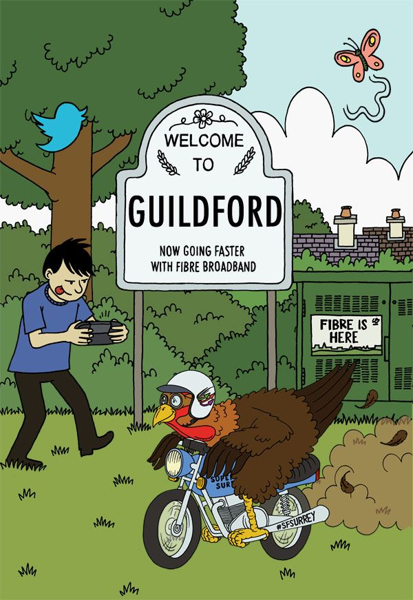 More fibre broadband availability in Guildford - Superfast Surrey