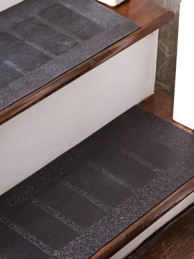 help avoid stairway falls and prevent accidents with these heavyduty genuine rubber stair treads - Rubber Stair Treads