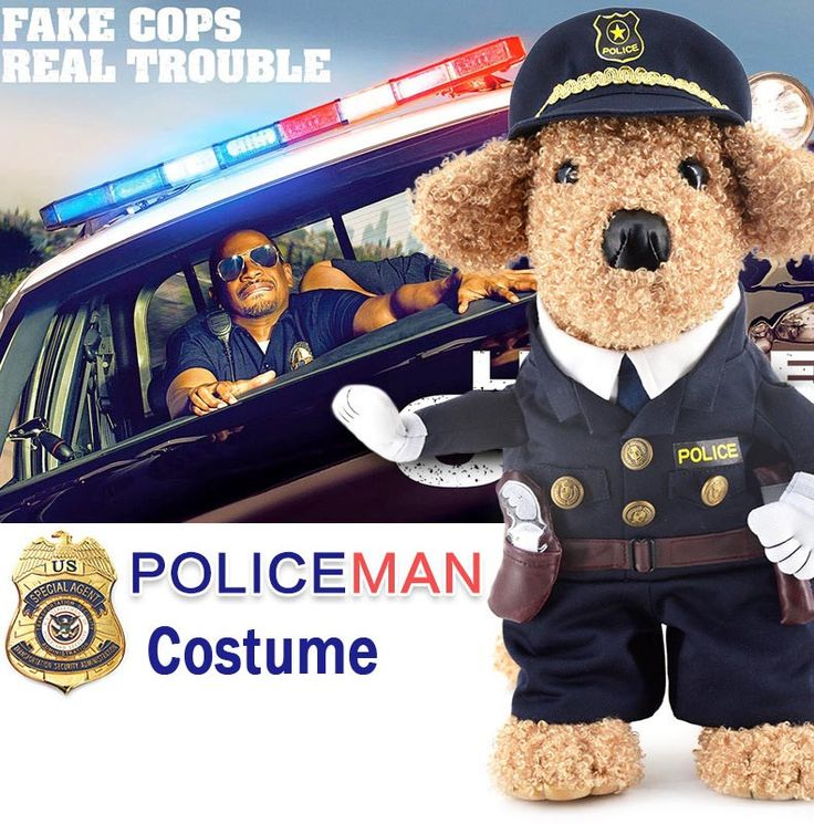 Funny Halloween pet cat dog police costume cosplay with dog police hat small dog puppy party uniform suit jacket clothes
