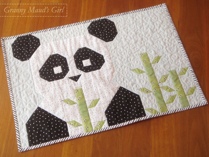 Panda quilt, pattern by Fat Quarter Shop                                                                                                                                                     More