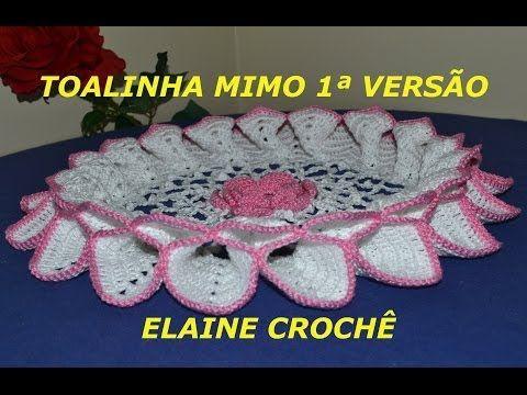 TOALHINHA MIMO EM CROCHÊ - 1ª VERSÃO - YouTube
