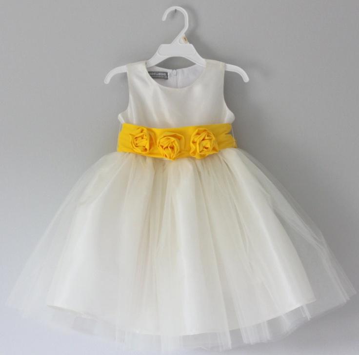 Fashion girls dress yellow and gray wedding flower girl dresses yellow and gray wedding flower girl dresses mightylinksfo