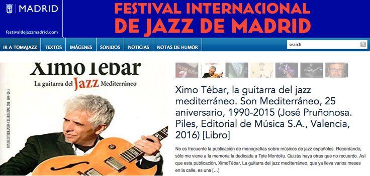Tomajazz.- No es frecuente la publicación de monografías sobre músicos de jazz españoles. Recordando, sólo me viene a la memoria la dedicada a Tete Montoliu. Quizás haya otras que no recuerdo. Así …