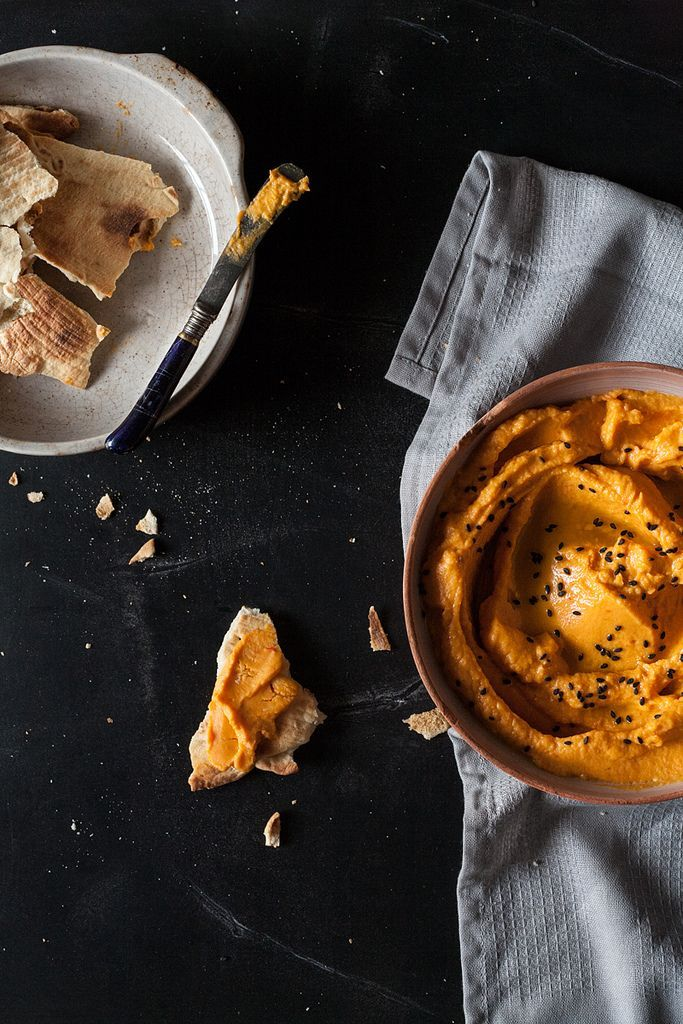 butternut squash + smoked red pepper hummus