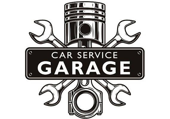 Mechanic Logo 3 Piston Wrench Crossed Engine Car Auto Mecanico De Coches Garaje Mecanico Mecanico De Autos