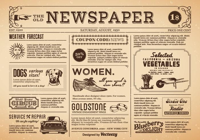 Welcome Home The Farmer S Lamp In 2020 Old Newspaper Vintage Newspaper Vector Free