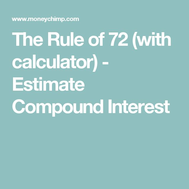 The Rule of 72 (with calculator) - Estimate Compound Interest