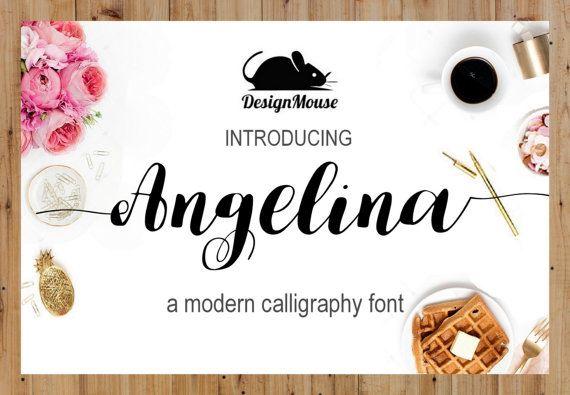 Handgeschreven lettertype downloaden moderne door ThePrintablesWorld