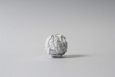 Martin Creed - Work No. 88 A sheet of A4 paper crumpled into a ball 1995