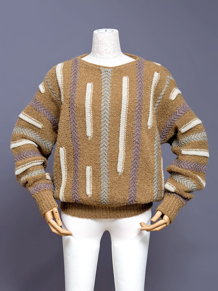 Japanese Fashion Archive Issey Miyake knit sweater, 1980s.