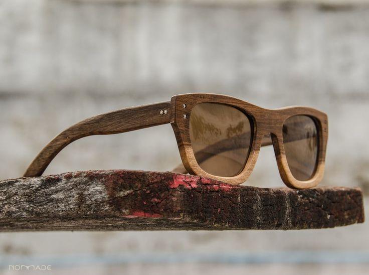 Anteojo de madera, lentes de sol   Nomade