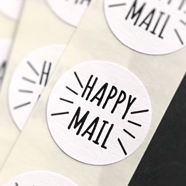 Shipping a happy mail package full of our Happy Mail stickers! https://etsy.me/2qWS0nM