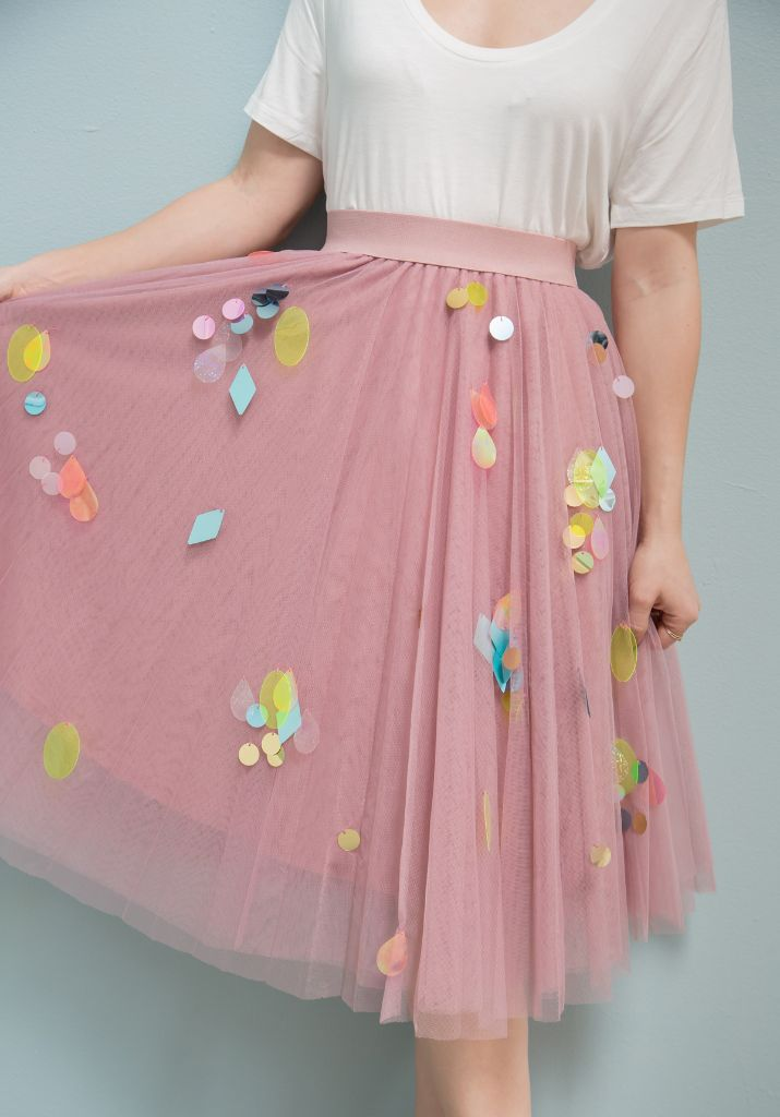 diy sequin skirts...