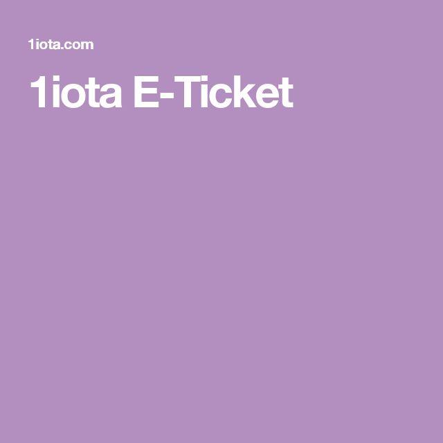 1iota E-Ticket
