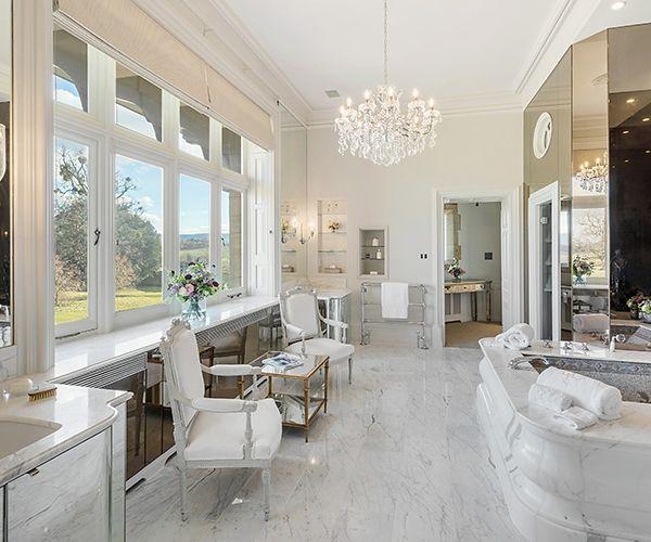 Crystal bathroom at Cowdray House wedding venue in West Sussex | CHWV