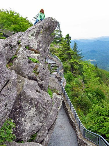 Climb the path to the pinnacle of Blowing Rock if you dare!  A thrilling view awaits the brave visitor.  See our luxury home for sale - just a stone's throw from Blowing Rock North Carolina.  More can be found about the mountaintop home at www.blueridgeluxuryhome.com or in our Pinterest board, Blue Ridge Luxury home.