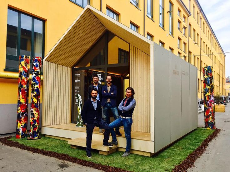 Microarch Smarthome Modom iAm28. Unità abitativa modulare da 28 mq, realizzata mediate l'assemblaggio di pannelli prefabbricati, struttura in legno...