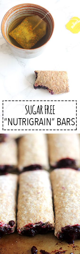 Nutrigrain Bars | Raising Sugar Free Kids - I used to love cereal bars before giving up sugar, but they are often packed with the stuff! So this is my take on Nutrigrain bars, sugar free and high in fibre, fruit, and yumminess!