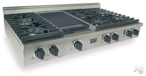 Five Star 48 Pro-Style LP Gas Rangetop with 6 Sealed Burners contemporary cooktops