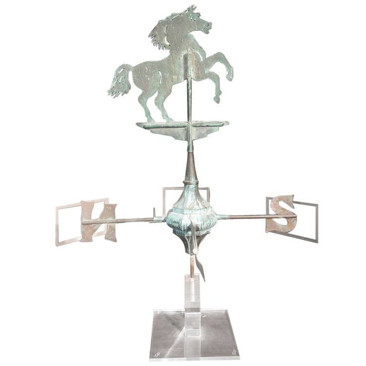 French Copper Horse Directional Weather Vane. Circa 1870 | From a unique collection of antique and modern weathervanes at http://www.1stdibs.com/furniture/folk-art/weathervanes/