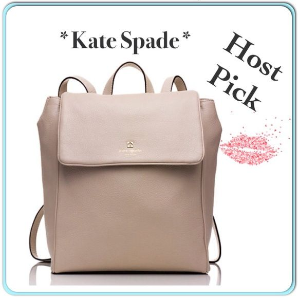NWT Kate Spade nude Backpack Beautiful leather backpack in nude. Brand new with tags. It's the Grant Park Callen bag. Absolutely beautiful. kate spade Bags Backpacks