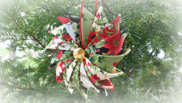 Prairie Point Star Ornament made with Season's Greetings by Sentimental Studios