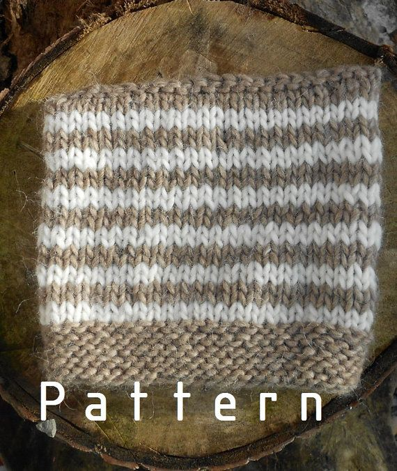 Knitting pattern for the unisex striped hat/children/ toddler/ adult