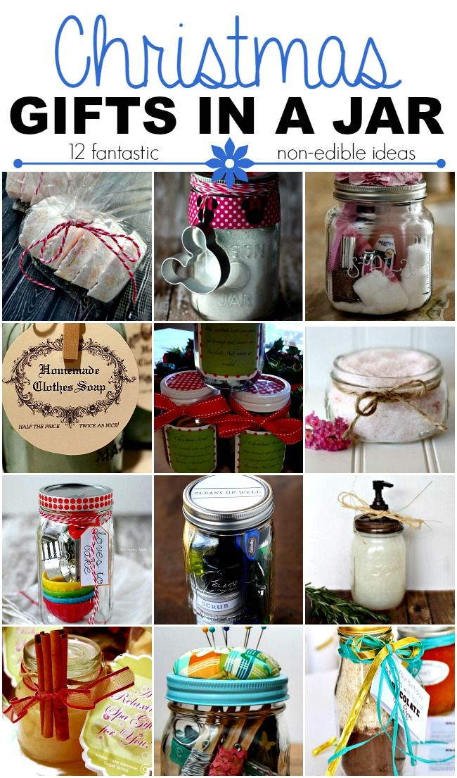 Looking for ideas for homemade Christmas gifts? Check out these non-edible ideas for gifts in a jar.