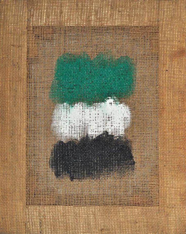 Salvatore Emblema (Italian, 1929-2006) - Untitled, 2004 #modern #art #arte #moderna  #transparency #Painting #Italia #Italy