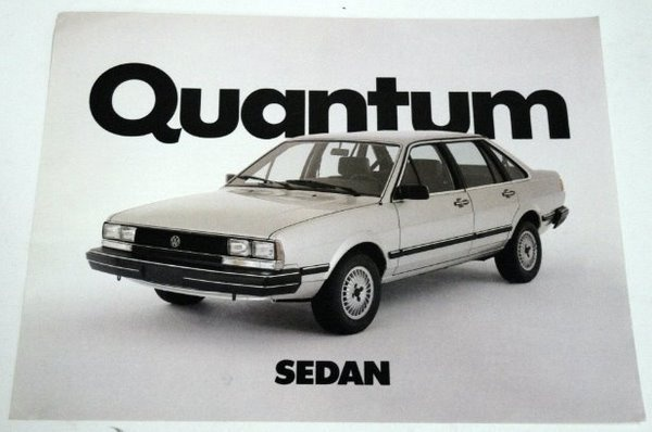 1980s VW Quantum Sedan. Odd 5 cylinder engine from Audi. Squirrely front-wheel drive handling. Serviceable.: 1980S Vw, First Car