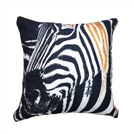 Golden Zebra 45cm x 45cm - Double sided cushion Australian made & designed Designs from original artworks www.lillyrockshop.com.au