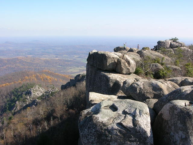 Old Rag is one of my favorite hikes.  Once you get past the switchbacks, the whole world opens up to your eyes, ears and legs!  Get ready for the rock scrambles and check out the beautiful views along the way.  It's like heaven up there!