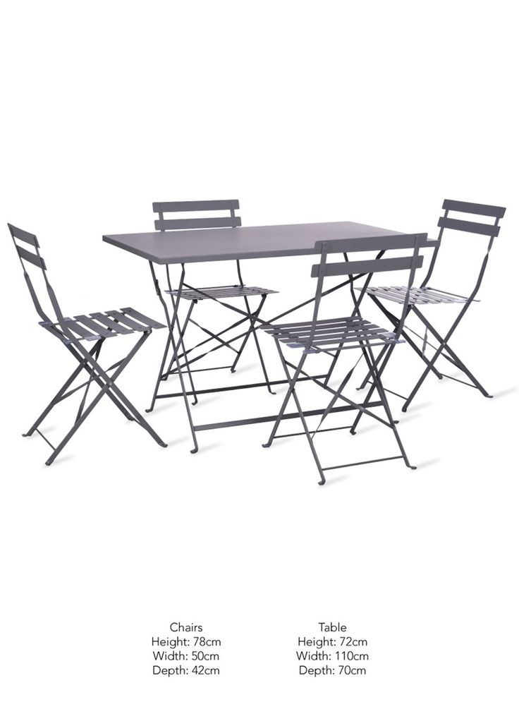 The Rive Droite Rectangular Bistro Set is the perfect outdoor furniture set for lazy lunches and evening parties
