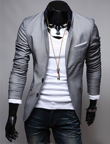 Best 20  Grey blazer mens ideas on Pinterest | Grey smart casual ...