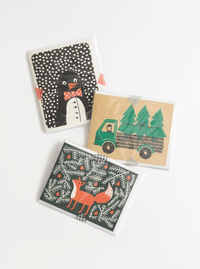 Madewell Top Hat™ holiday cards.