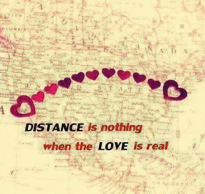 Distance is nothing when the love is real love quote travel true lovequote real far distance