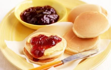 """Craving for Yummy Pikelets?   Try our """"Pikelets with Strawberry Jam and Cream"""". So yummy!  Visit our new website http://www.saffroncatering.com.au/"""