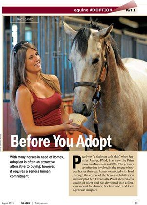 [SPECIAL REPORT] Horse Adoption: Before You Adopt - TheHorse.com   Adoption is often an attractive alternative to buying; however, it requires a serious human commitment. #horses #adoption #horsehealth