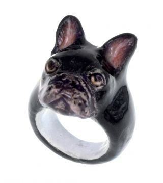 Black french bulldog ring http://www.nachbijoux.com
