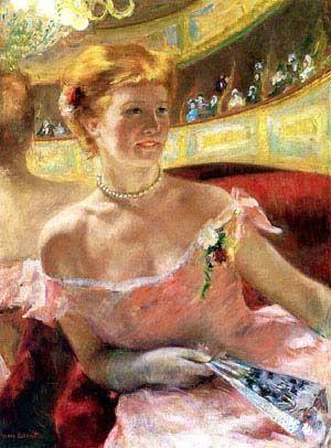 """ Berthe Morisot"" NO, Mary Cassatt. Lydia dans une loge, portant un collier de perles 1879"