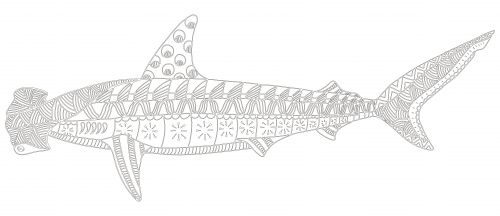 Hammerhead Shark Coloring Page Crafts Sharks And Coloring