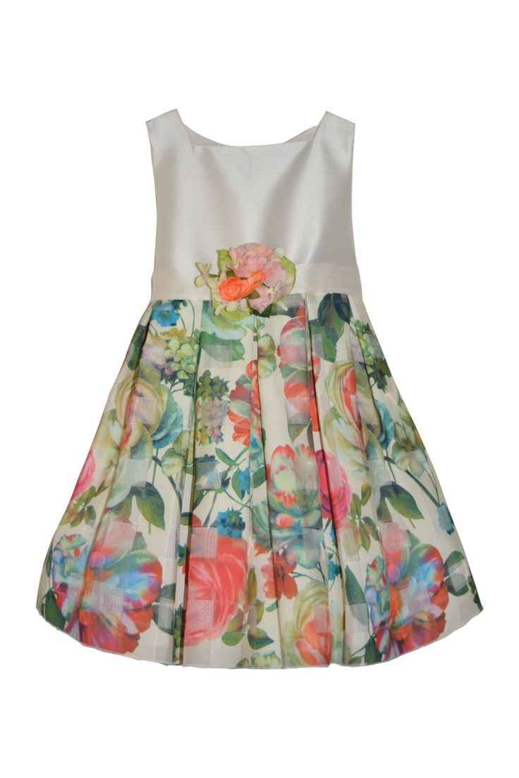 Dress with floral skirt