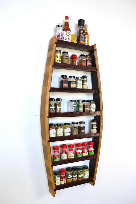 SPICE RACK Big Thyme Extra Large Spice by winecountrycraftsman $185
