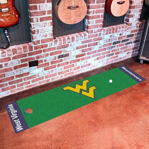 West Virginia Mountaineers Indoor Golf Putting Green