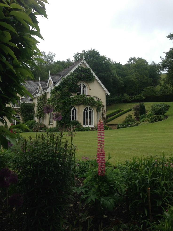 The lovely house & beautifully maintained Gardens of the Old Dairy, Sidbury, Devon, open as part of the National Gardens Scheme, June 2013