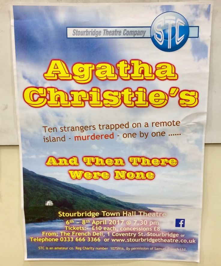 And then there were none by Agatha Christie - Stourbridge Town Hall