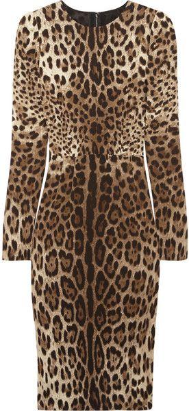 DOLCE & GABBANA  Leopardprint Crepe Dress: Leopard Dress, Leopard Print, Fashion, Crepe Dress Wow, Crepes, Dolce And Gabbana Animal Print, Style Dresses, Wild Thang, Dolce & Gabbana